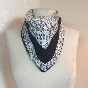 Dolce & Gabbana silk logo neck scarf
